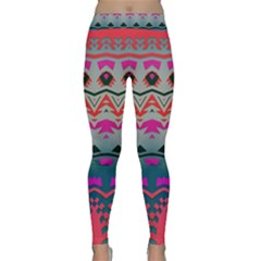 Waves And Other Shapes Yoga Leggings