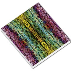Abstract, Yellow Green, Purple, Tree Trunk Small Memo Pads by Costasonlineshop