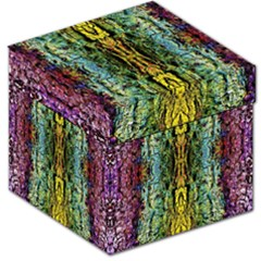 Abstract, Yellow Green, Purple, Tree Trunk Storage Stool 12   by Costasonlineshop