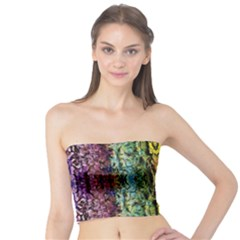 Abstract, Yellow Green, Purple, Tree Trunk Women s Tube Tops by Costasonlineshop