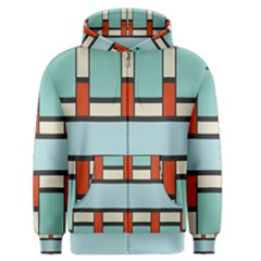 Vertical And Horizontal Rectangles Men s Zipper Hoodie