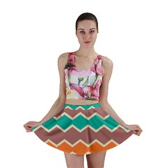 Colorful Chevrons Pattern Mini Skirt by LalyLauraFLM