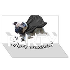 Do Pugs Party 3d Greeting Card (8x4)