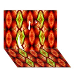 Melons Pattern Abstract Apple 3d Greeting Card (7x5)  by Costasonlineshop