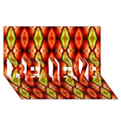 Melons Pattern Abstract Believe 3d Greeting Card (8x4)  by Costasonlineshop