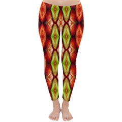 Melons Pattern Abstract Winter Leggings  by Costasonlineshop