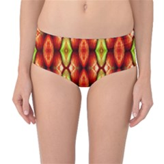 Melons Pattern Abstract Mid Waist Bikini Bottoms by Costasonlineshop