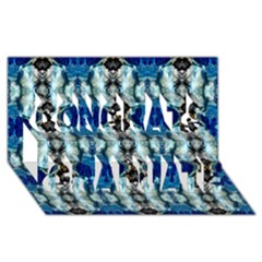 Royal Blue Abstract Pattern Congrats Graduate 3d Greeting Card (8x4)  by Costasonlineshop