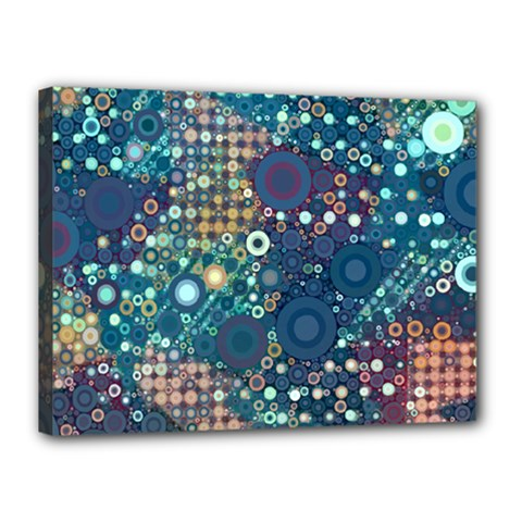 Blue Bubbles Canvas 16  X 12  by KirstenStar