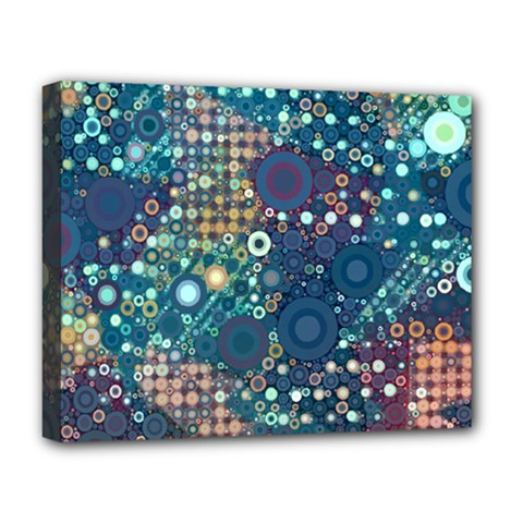 Blue Bubbles Deluxe Canvas 20  X 16   by KirstenStar
