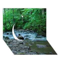 Rocky Stream Circle 3d Greeting Card (7x5)  by trendistuff
