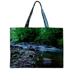 Rocky Stream Zipper Tiny Tote Bags