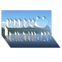 Loch Ness Happy Birthday 3d Greeting Card (8x4)  by trendistuff