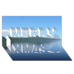 Loch Ness Merry Xmas 3d Greeting Card (8x4)  by trendistuff