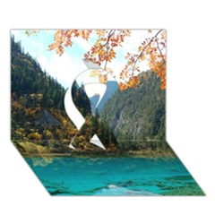 Jiuzhaigou Valley 3 Ribbon 3d Greeting Card (7x5)  by trendistuff