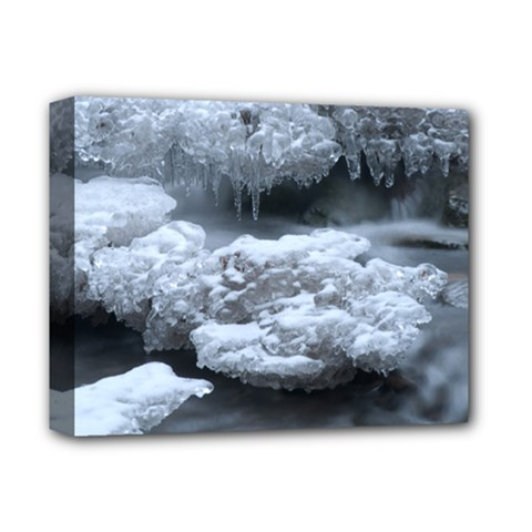 Ice And Water Deluxe Canvas 14  X 11  by trendistuff