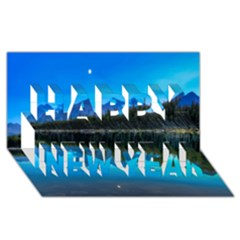 Herbert Lake Happy New Year 3d Greeting Card (8x4)  by trendistuff