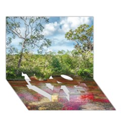 Cano Cristales 3 Love Bottom 3d Greeting Card (7x5)  by trendistuff