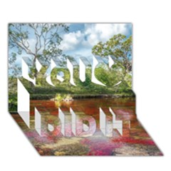 Cano Cristales 3 You Did It 3d Greeting Card (7x5) by trendistuff
