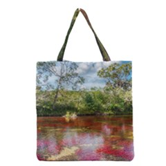 Cano Cristales 3 Grocery Tote Bags by trendistuff
