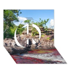 Cano Cristales 2 Peace Sign 3d Greeting Card (7x5)  by trendistuff