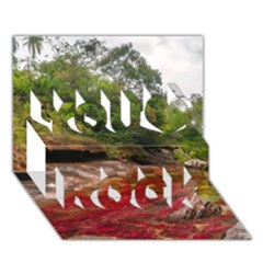 Cano Cristales 1 You Rock 3d Greeting Card (7x5)  by trendistuff
