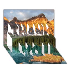 Banff National Park 4 Thank You 3d Greeting Card (7x5)  by trendistuff
