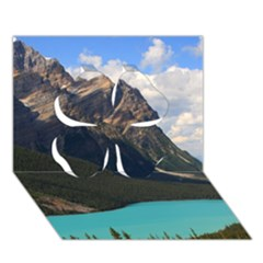 Banff National Park 3 Clover 3d Greeting Card (7x5)  by trendistuff