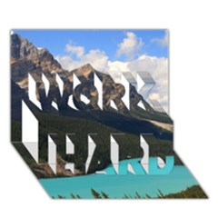 Banff National Park 3 Work Hard 3d Greeting Card (7x5)  by trendistuff