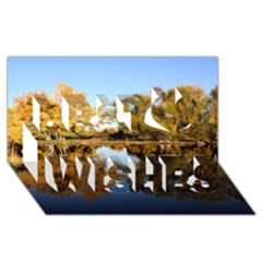 Autumn Lake Best Wish 3d Greeting Card (8x4)  by trendistuff