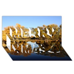 Autumn Lake Merry Xmas 3d Greeting Card (8x4)  by trendistuff
