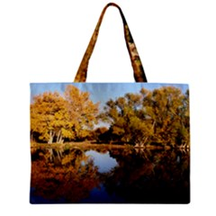 Autumn Lake Zipper Tiny Tote Bags by trendistuff