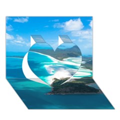 Whitehaven Beach 2 Heart 3d Greeting Card (7x5)  by trendistuff