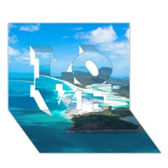 Whitehaven Beach 2 Love 3d Greeting Card (7x5)  by trendistuff