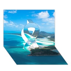 Whitehaven Beach 2 Ribbon 3d Greeting Card (7x5)  by trendistuff