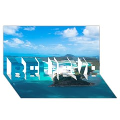 Whitehaven Beach 2 Believe 3d Greeting Card (8x4)  by trendistuff