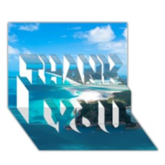 Whitehaven Beach 2 Thank You 3d Greeting Card (7x5)  by trendistuff