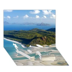 Whitehaven Beach 1 Love Bottom 3d Greeting Card (7x5)  by trendistuff