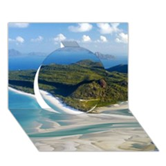 Whitehaven Beach 1 Circle 3d Greeting Card (7x5)  by trendistuff