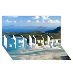 Whitehaven Beach 1 Believe 3d Greeting Card (8x4)  by trendistuff