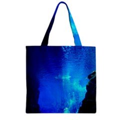 Underwater Trench Zipper Grocery Tote Bags