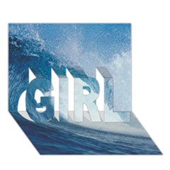 Ocean Wave 2 Girl 3d Greeting Card (7x5)  by trendistuff