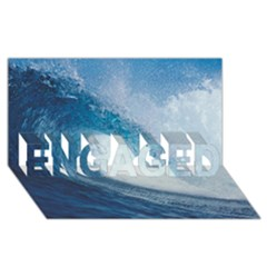 Ocean Wave 2 Engaged 3d Greeting Card (8x4)