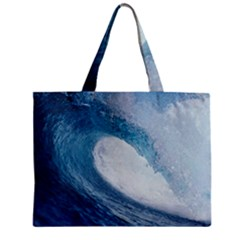 Ocean Wave 2 Zipper Tiny Tote Bags by trendistuff