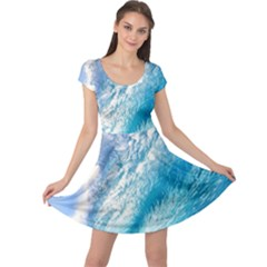 Ocean Wave 1 Cap Sleeve Dresses by trendistuff