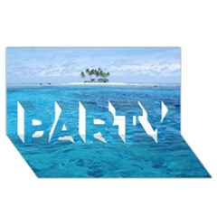 Ocean Island Party 3d Greeting Card (8x4)  by trendistuff