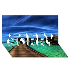 Maldives 2 Sorry 3d Greeting Card (8x4)  by trendistuff