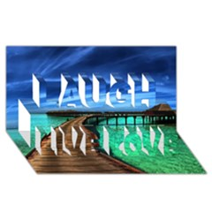 Maldives 2 Laugh Live Love 3d Greeting Card (8x4)  by trendistuff