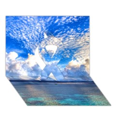 Maldives 1 Ribbon 3d Greeting Card (7x5)  by trendistuff