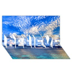 Maldives 1 Believe 3d Greeting Card (8x4)  by trendistuff